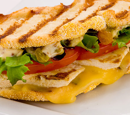 Sweet & Spicy Chicken Panini with Vintage Gouda