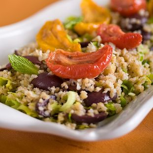 Roasted Tomatoes & Mediterranean Bulgur Salad