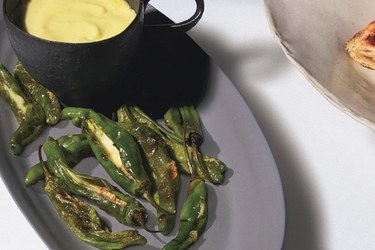 Padrón Peppers Stuffed with Tetilla Cheese