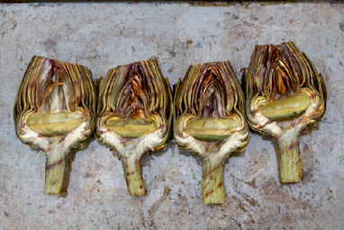 Grilled Artichokes with Lemony Moroccan Dip