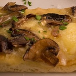 Flatbread with Saint Nectaire and Raclette
