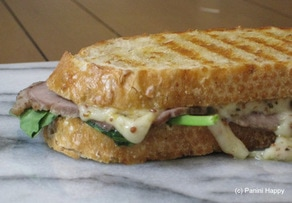 Red Dragon, Roast Beef, & Arugula Panini