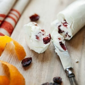 Mackenzie Creamery Cranberry Orange Goat Cheese Log