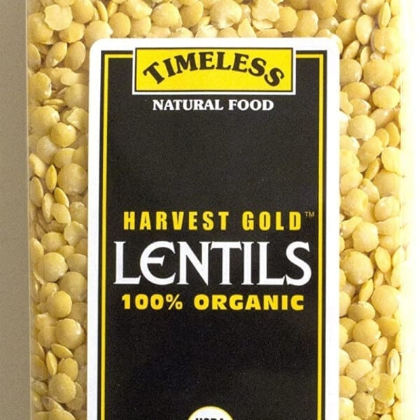 Timeless harvest gold lentils