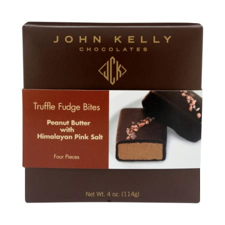 John Kelly Chocolate Peanut Butter Bites with Pink Sea Salt 4-pack